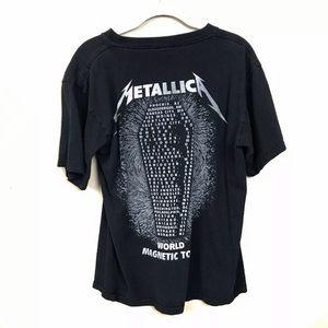 Tops - Metallica world magnetic band concert T-shirt
